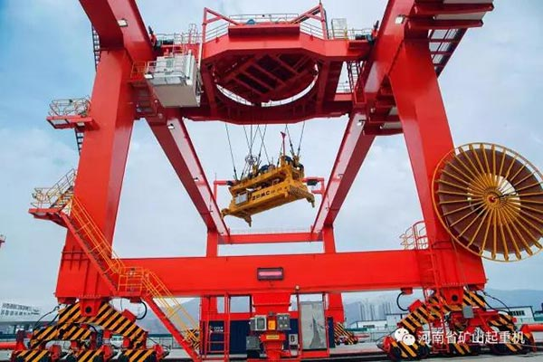 Two Sets RMG Put Into Use In Lanzhou International Port which manufactured by Henan Mine(Kuangshan)
