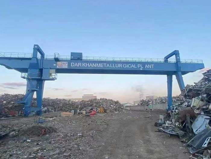 Mongolia 25 t MG gantry crane installation completed