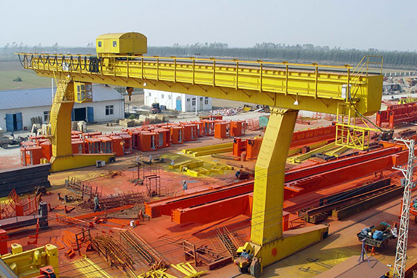 L-Shaped Legs Single Girder Gantry Crane with Winch