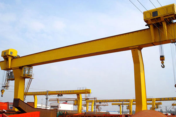 L-Shaped Legs Single Girder Gantry Crane with Winch - Henan Mine