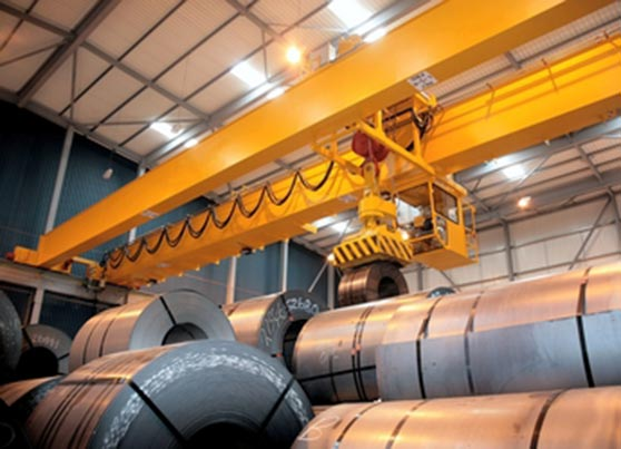 Double Girder Overhead Crane with Electromagnet